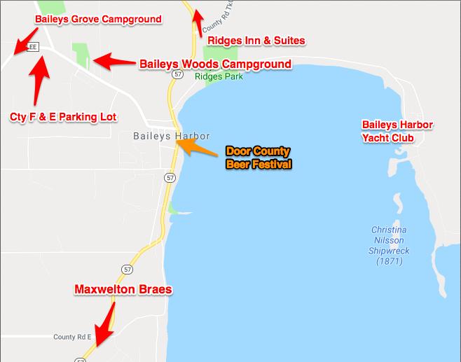 2019 Shuttle Schedule and Map - Door County Beer Festival on